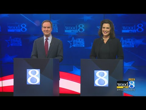 The Michigan gubernatorial debate at WOOD TV8