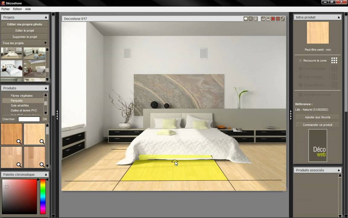 Logiciel de simulation de d coration decoshow youtube for Logiciel decoration interieur mac