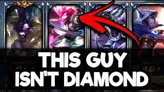 Placing a Silver Player in a Diamond Solo Q Game - League of Legends