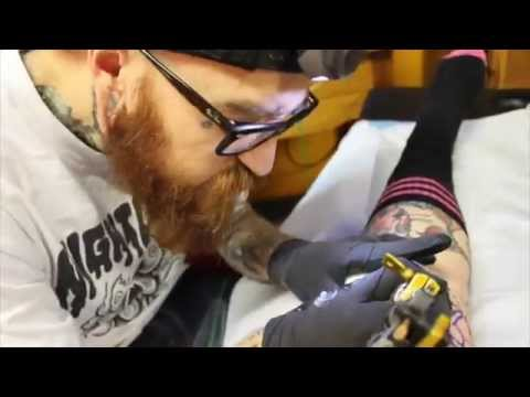 Knee Cap tattoo with Kyle X Grand and Kandy K at Black Sails