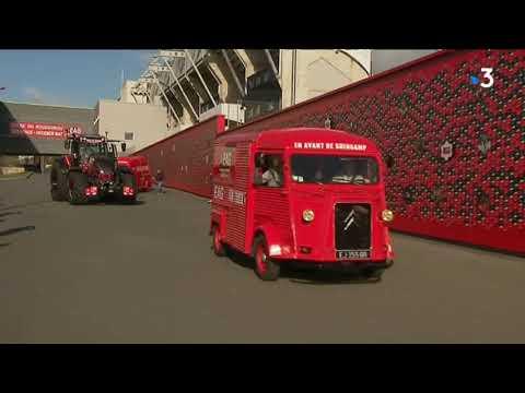 Coupe de la Ligue : le tracteur de l'En Avant Guingamp en route pour Lille