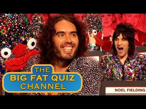 Russell Brand and Noel Fielding Wreck the   Big Fat Quiz Anniversary 2015