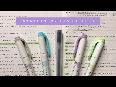 my stationery favourites!