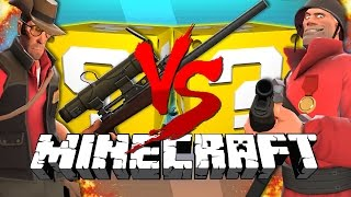 Minecraft: TEAM FORTRESS 2 LUCKY BLOCK CHALLENGE | Turret Destruction!