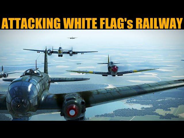 Little Britain Campaign: DAY 2 Attacking White Flag's Railway | IL-2 Sturmovik