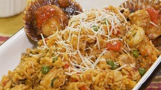 Receta del arroz con mariscos • Peruvian food • Comida peruana