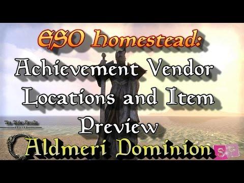 ESO: Achievement Furniture Vendor Locations / Item Preview [AD]