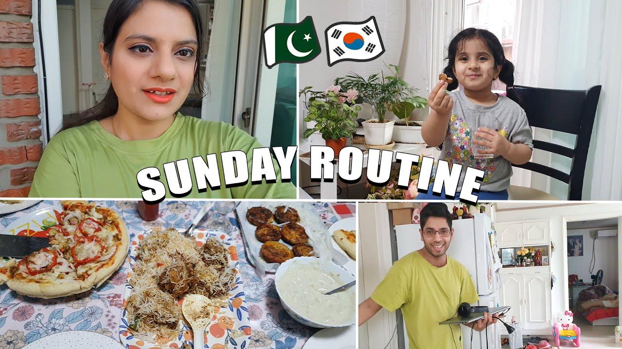 Sunday Routine of Pakistani Family Living Abroad   Sidra Riaz VLOGS