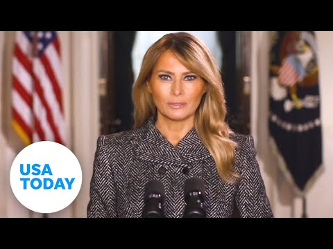 Melania Trump gives farewell message days before Biden's inauguration | USA TODAY