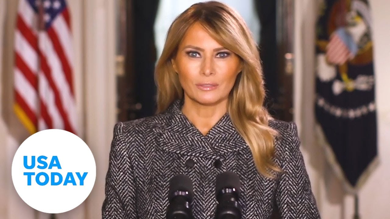 Download Melania Trump gives farewell message days before Biden's inauguration   USA TODAY
