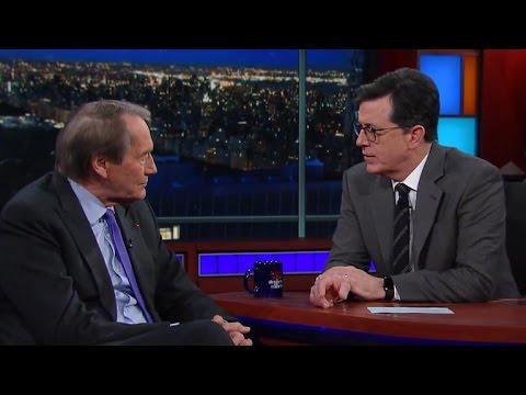 Charlie Rose tells Stephen Colbert why he has two phones