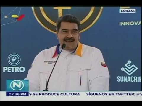 Presidente Nicolás Maduro participa en jornada de compra de Petros, 6 noviembre 2018