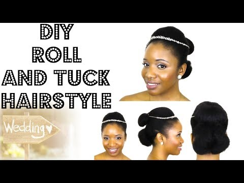 8 Bridal / Formal Hairstyles For Medium Length Natural Hair (Style 5)