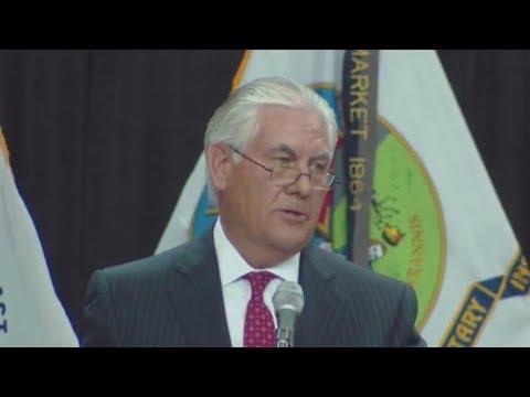 Rex Tillerson warns of \