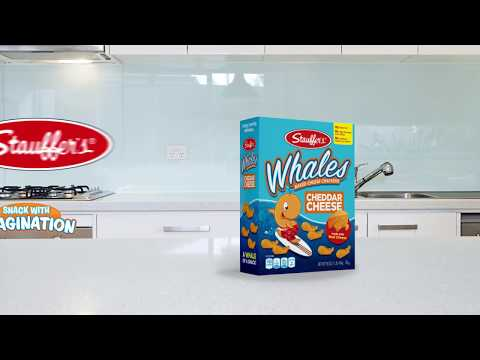 Stauffer's ~ Cheddar Baked Whales Snack Crackers ~ Snack With Imagination