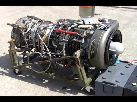Jet Engine Rolls Royce Gnome Turbine Engine Test Run Youtube