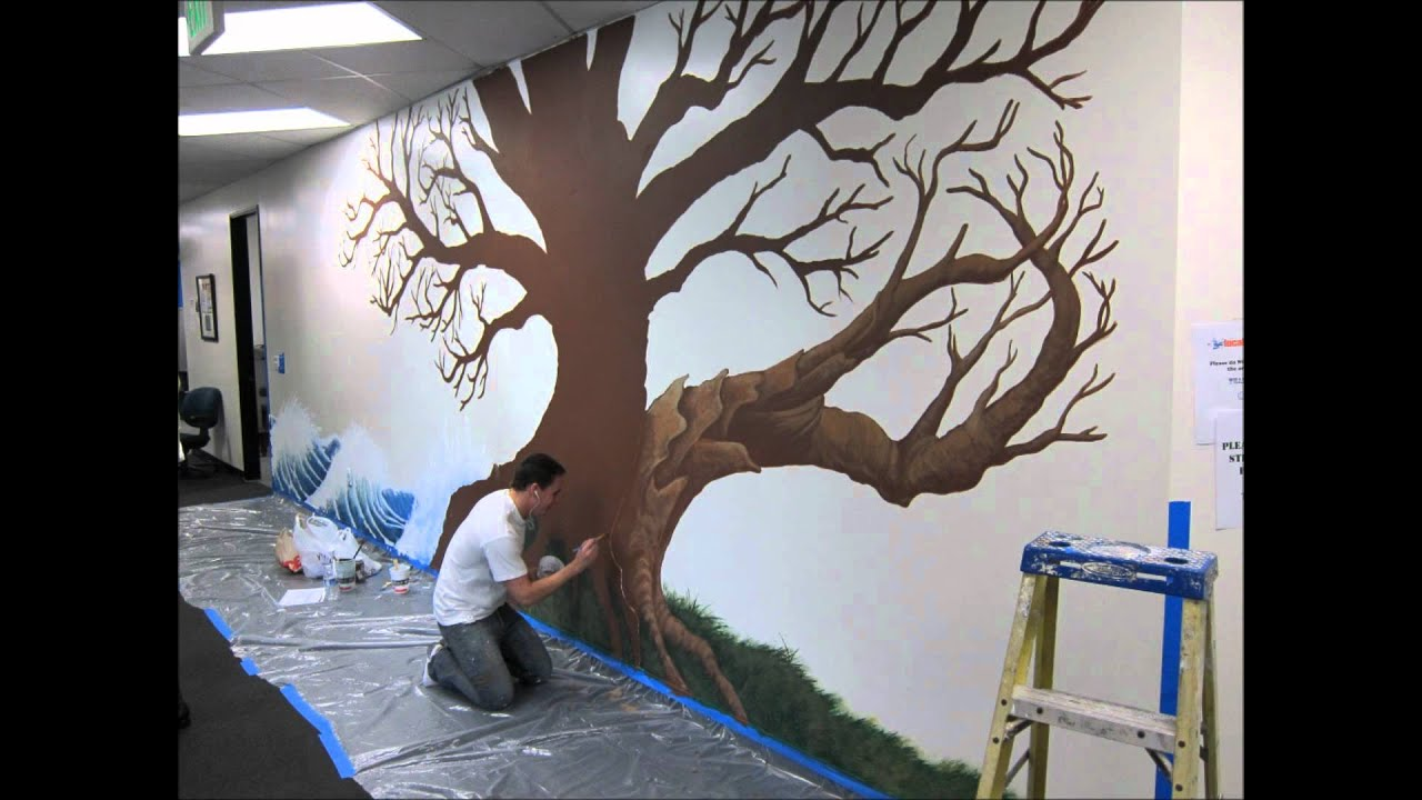 Local Splash Family Tree Mural Project - YouTube