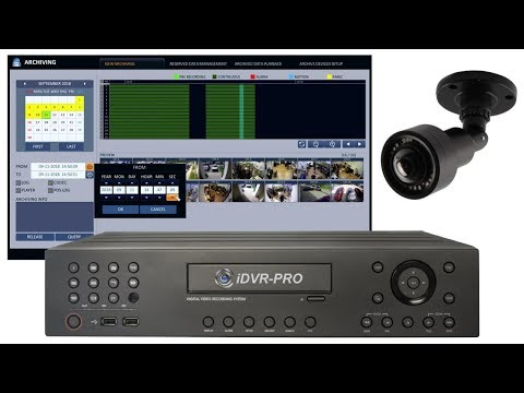 Recorded Video Surveillance Backup Export for iDVR-PRO Security Camera DVRs