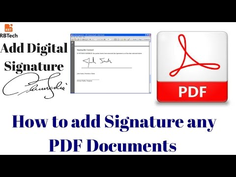 How to add Digital Signature in any PDF Documents By using Adobe acrobat