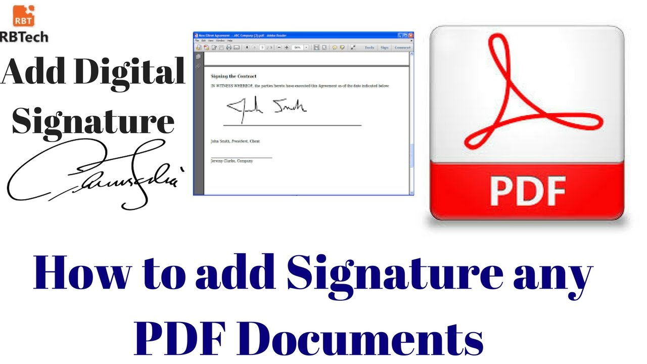 How to add digital signature in any pdf documents by using for Sign documents adobe pdf