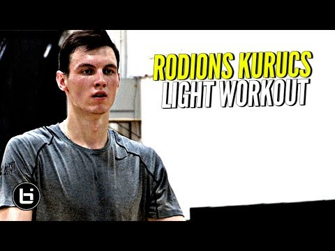 Projected 1st Round Pick In 2018 NBA Draft Rodions Kurucs Workout Session.