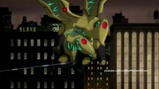 Бэтмен знакомится с Зеленым фонарем в  Лига справедливости Война