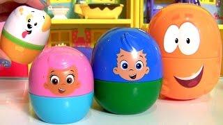Bubble Guppies Stacking Cups Surprise | Copinhos de Empilhar Surpresa Bubble Guppies em Portugues BR