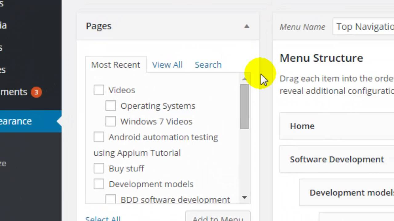 How to add submenu in wordpress
