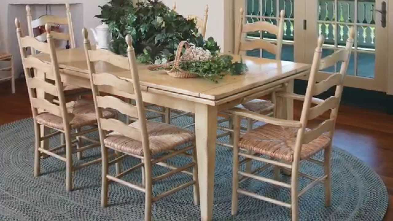 Saybrook Country Barn Draw Leaf Dining Table Demo