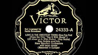 1933 HITS ARCHIVE: Love Is The Sweetest Thing - Ray Noble (Al Bowlly, vocal)