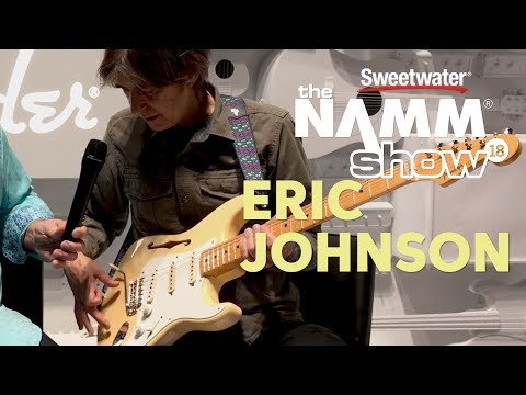 Eric Johnson ps his new semihollow signature Thinline Stratocaster