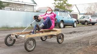 Самодельный детский велокарт
