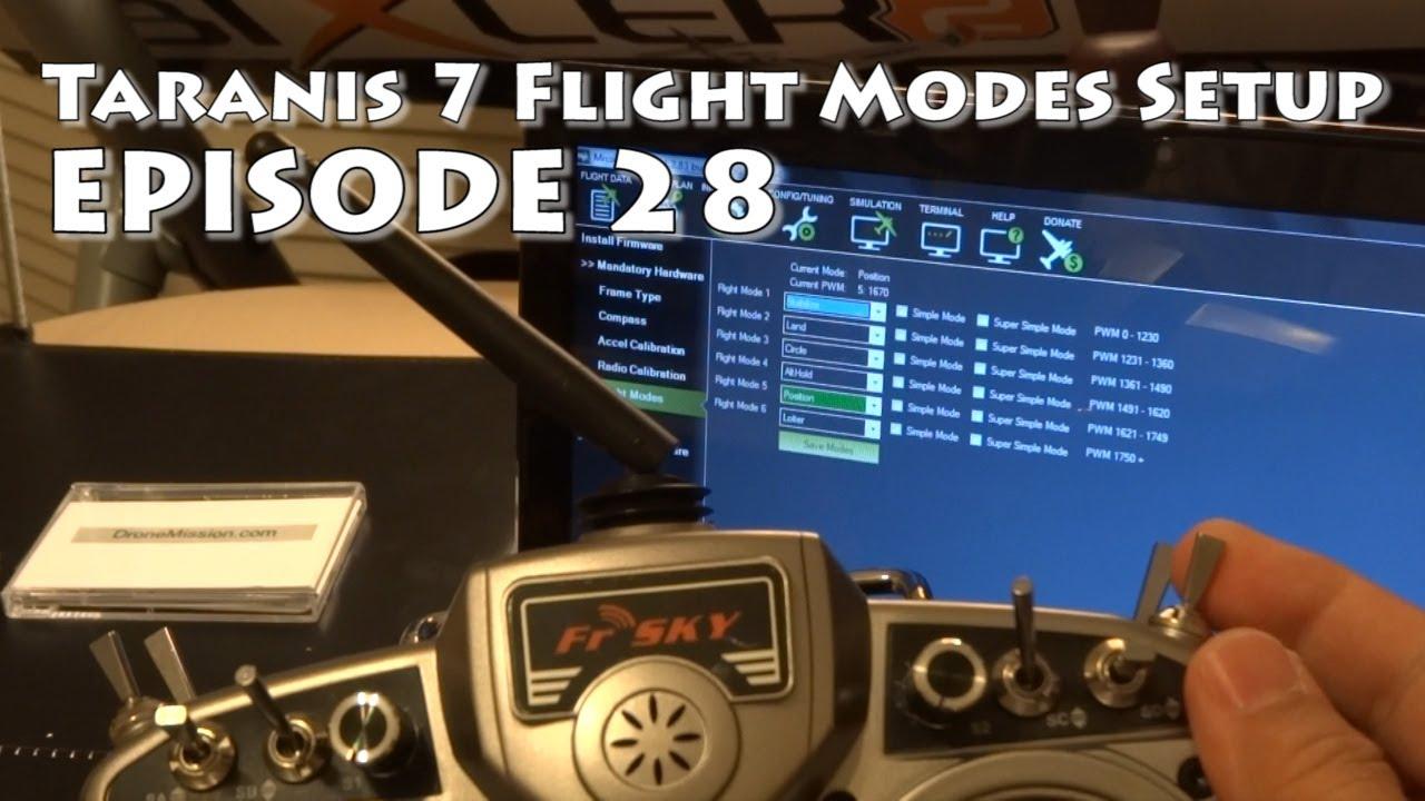 FrSky Taranis Setup 6 Flight Modes plus 1 for APM Ardupilot - DIY Drones