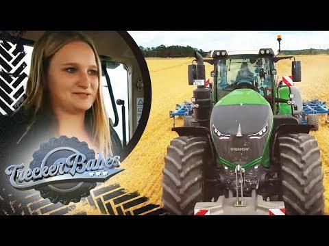 Jungfernfahrt des neuesten Traktors: Cynthia hat 500 PS unter der Haube | Trecker Babes | Kabel Eins