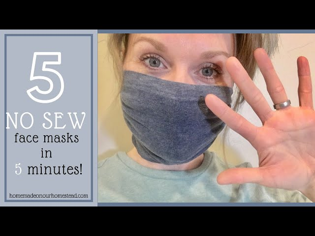 HOW TO MAKE FABRIC FACE MASK AT HOME / DIY Face Mask NO SEWING MACHINE/ Easy face mask pattern