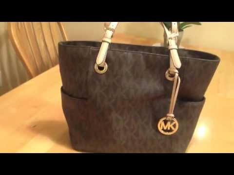 06f1624613b97 Michael Kors Logo-Print Signature Tote - YouTube