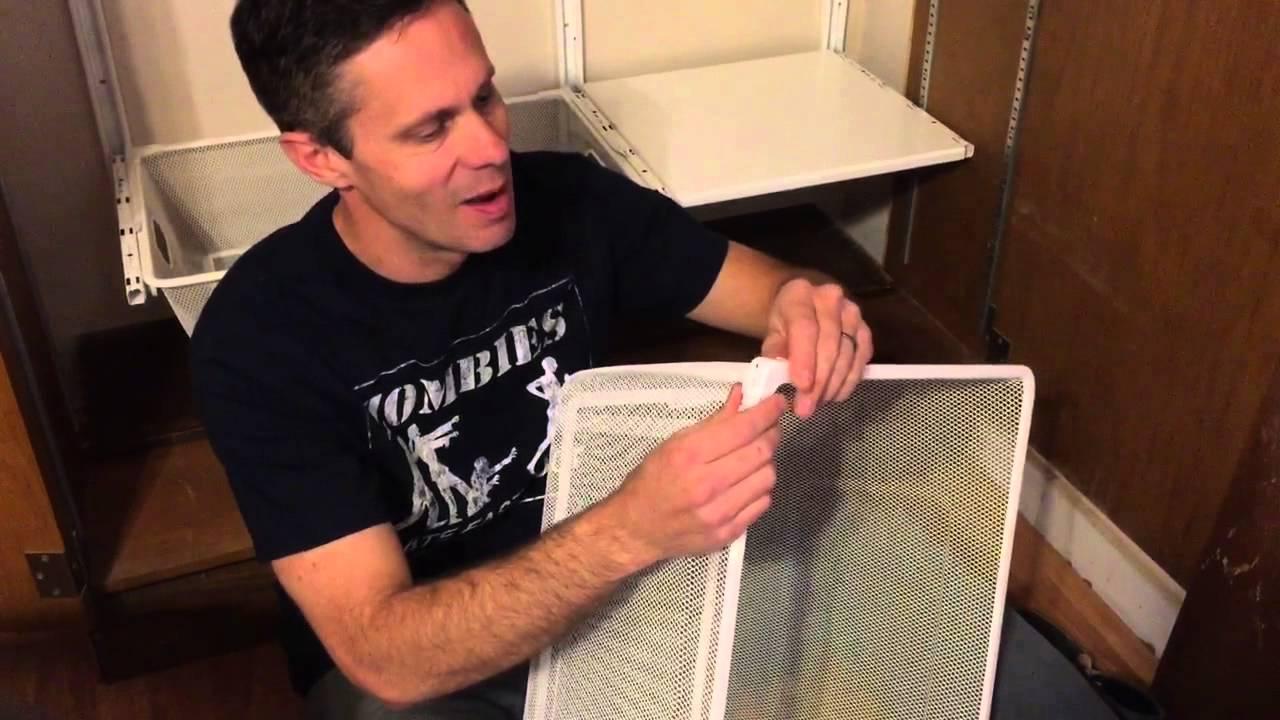 Diy Turn Old Book Shelf Into Ikea Algot Closet Youtube
