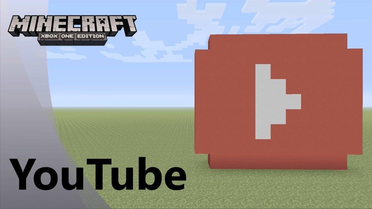 pixel art minecraft youtube logo