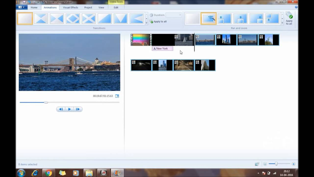 How to apply Pan Zoom animation effect in Windows Movie ...