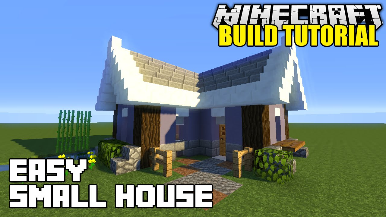 minecraft how to build a small house tutorial easy survival minecraft how to build a small house tutorial easy survival minecraft house youtube