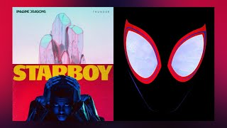 The Weeknd x Imagine Dragons x Post Malone - Starboy/Thunder/Sunflower/I Feel It Coming (MASHUP)