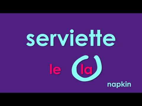 Learn French - Articles - Vocabulaire Objets de la table