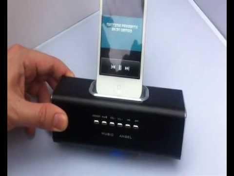 MUSIC ANGEL MINI PORTABLE SPEAKER for iPhone iPod Blackberry Samsung MP3 MP4 Memory Stick SD CARD