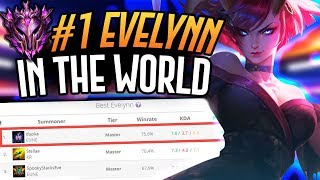 THE NUMBER ONE EVELYNN PLAYER DOES CRAZY DAMAGE!! - Master Tier Evelynn Jungle - League of Legends