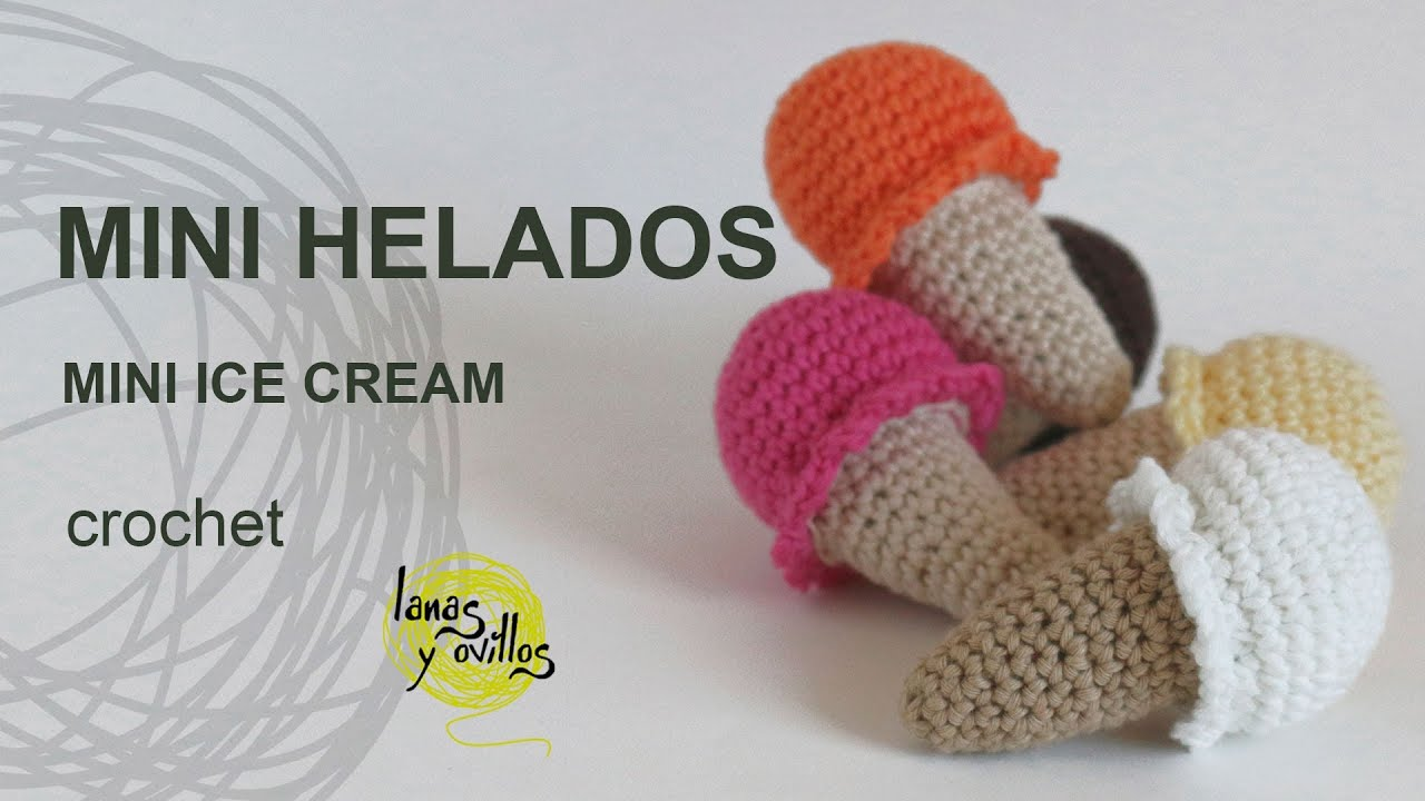 Amigurumi Facil Patron : Tutorial mini helado amigurumi mini ice cream youtube