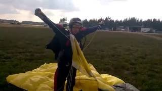 My first AFF Skydive landing with profound afterthoughts.
