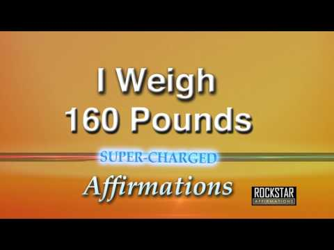 I Now Weigh 160 Pounds (Female Lead) - Weight Loss - Super-Charged Affirmations