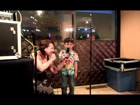 Keegan singing karaoke