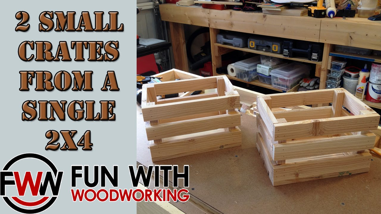 How To Build 2 Small Crates Out Of A Single 2x4 Youtube