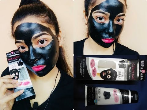 Charcoal Peel Off Mask | Trying 1st time Review+Demo | Step by Step process